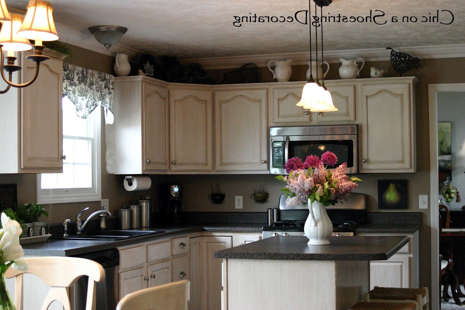 Decorating Above Kitchen Cabinets Tuscan Style White — 3 ...