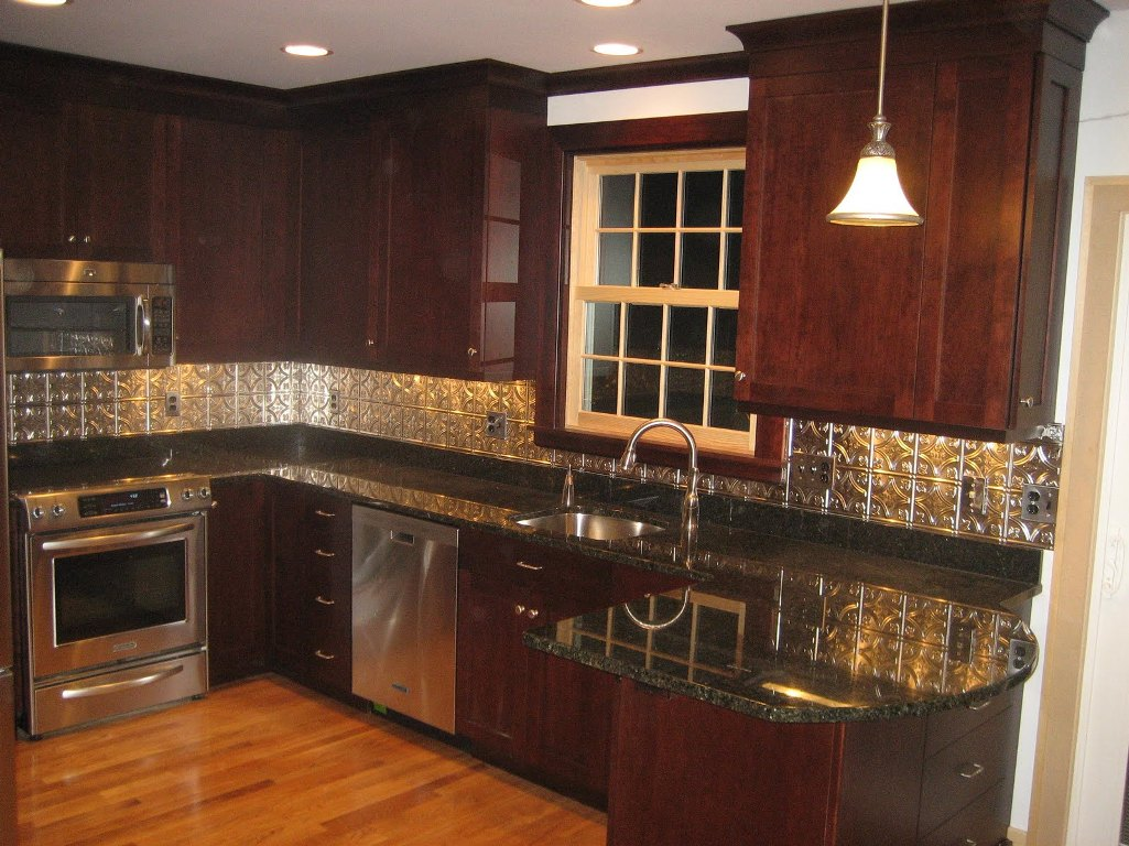 Kitchen Backsplash Ideas With Dark Wood Cabinets 3 Design