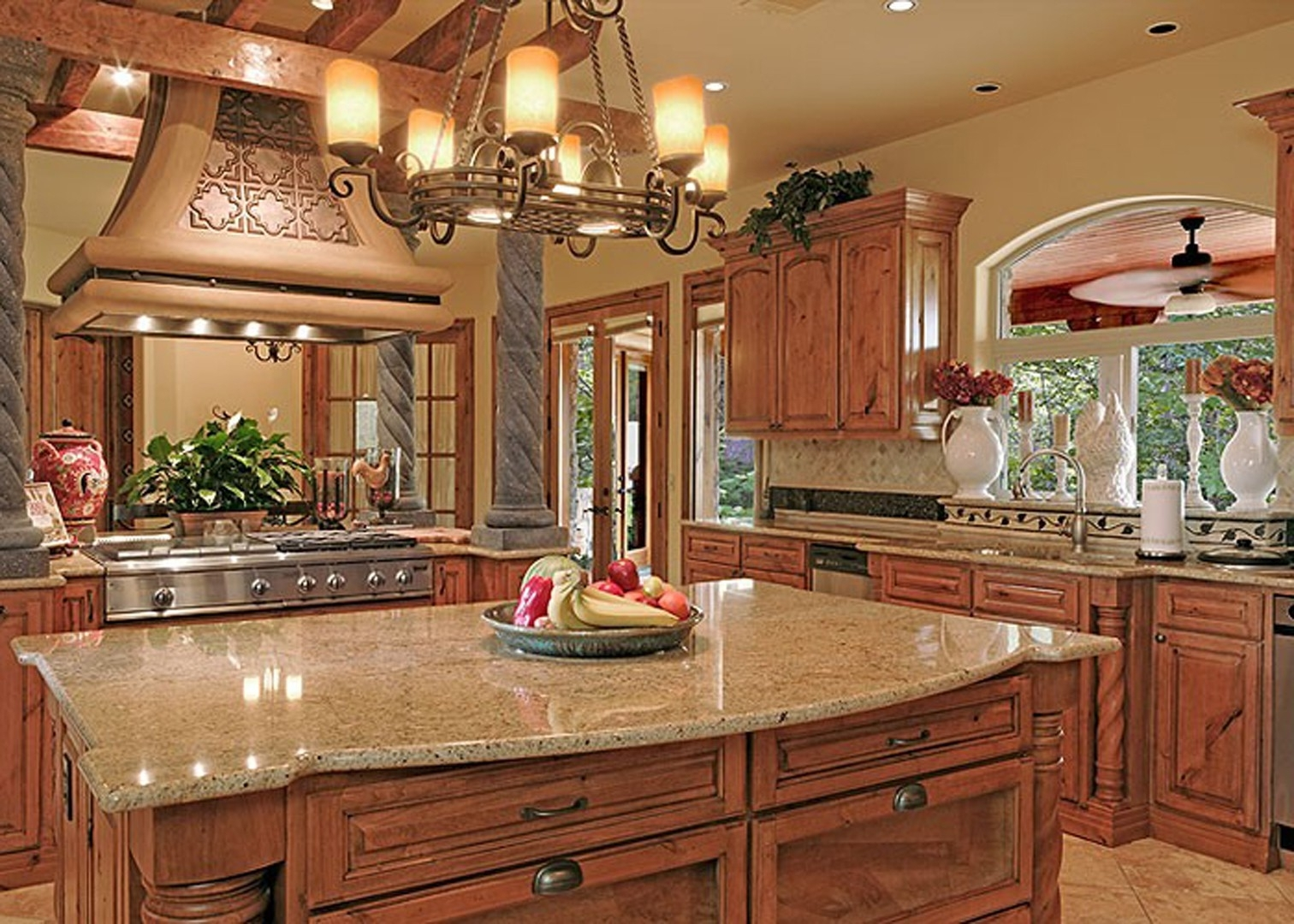 Great Decorating Above Kitchen Cabinets Tuscan Style — 3 ...