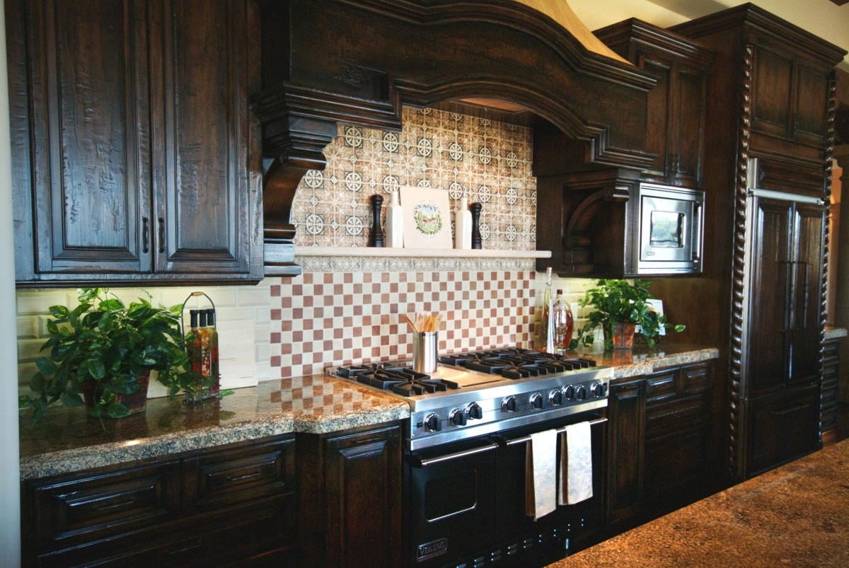 Kitchen Backsplash Ideas For Dark Cabinets Decorative 3 Design
